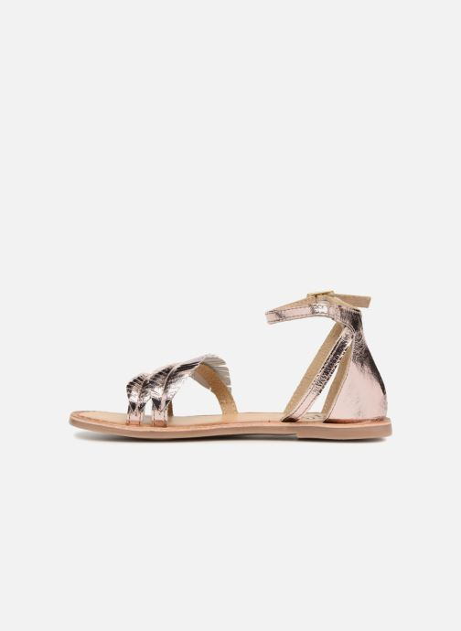 Sandals I Love Shoes Kefeuille Leather Bronze and Gold front view