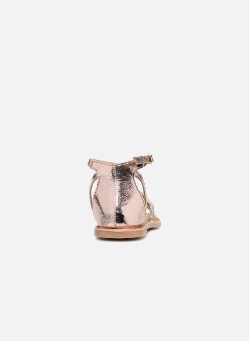 Sandales et nu-pieds I Love Shoes Kefeuille Leather Or et bronze vue droite