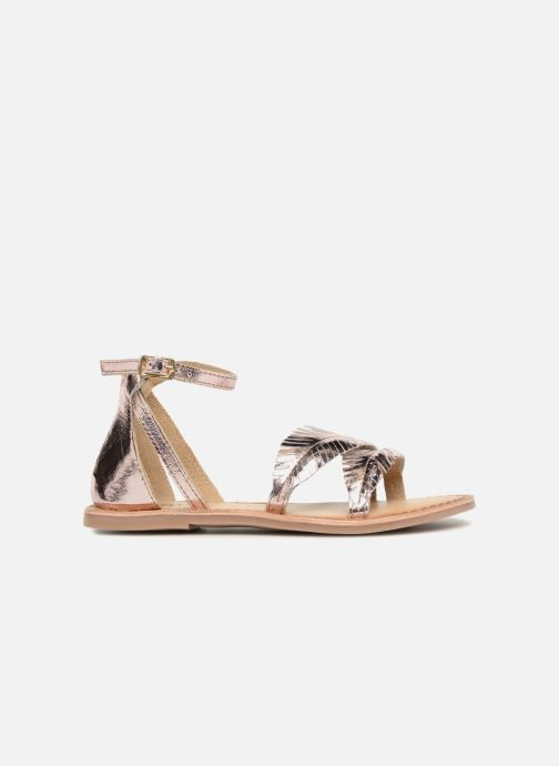 Sandals I Love Shoes Kefeuille Leather Bronze and Gold back view