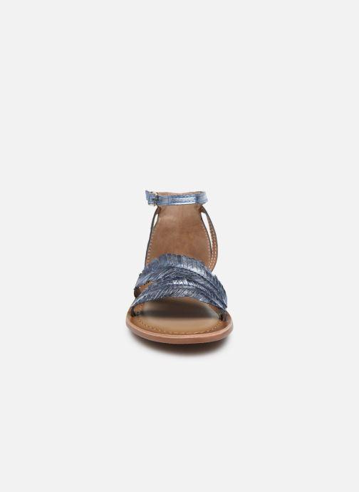 Sandali e scarpe aperte I Love Shoes Kefeuille Leather Azzurro modello indossato