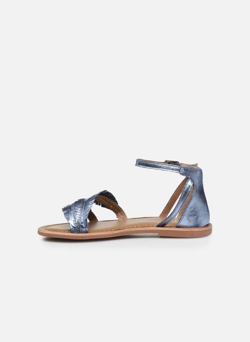 Sandali e scarpe aperte I Love Shoes Kefeuille Leather Azzurro immagine frontale
