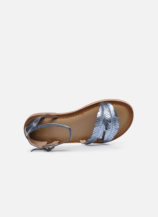 Sandalias I Love Shoes Kefeuille Leather Azul vista lateral izquierda