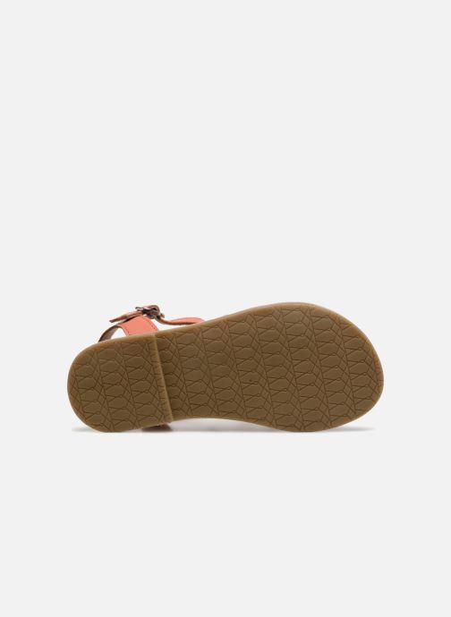 Sandales et nu-pieds I Love Shoes KEMALT LEATHER Orange vue haut