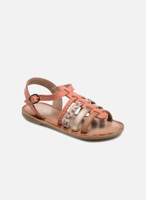 Sandals I Love Shoes KEMALT LEATHER Orange detailed view/ Pair view