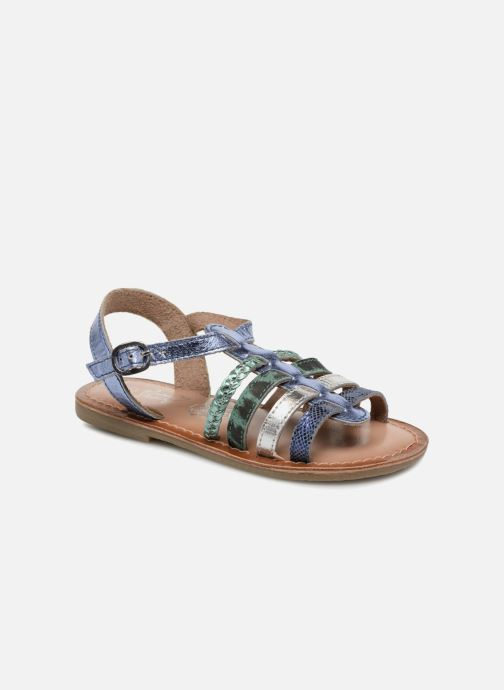 Sandals I Love Shoes KEMALT LEATHER Blue detailed view/ Pair view
