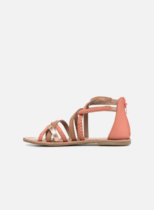 Sandales et nu-pieds I Love Shoes Kepola Leather Orange vue face