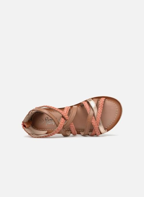 Sandals I Love Shoes Kepola Leather Orange view from the left