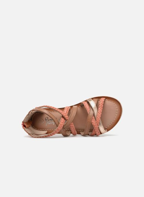 Sandales et nu-pieds I Love Shoes Kepola Leather Orange vue gauche