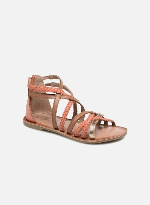 Sandals I Love Shoes Kepola Leather Orange detailed view/ Pair view