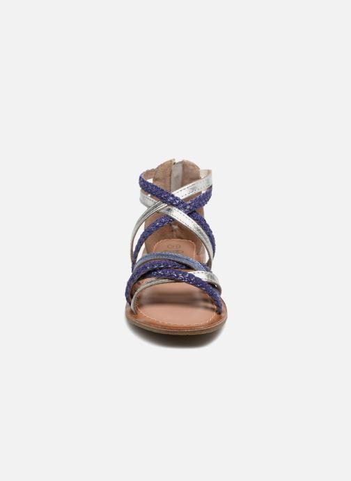Sandals I Love Shoes Kepola Leather Blue model view