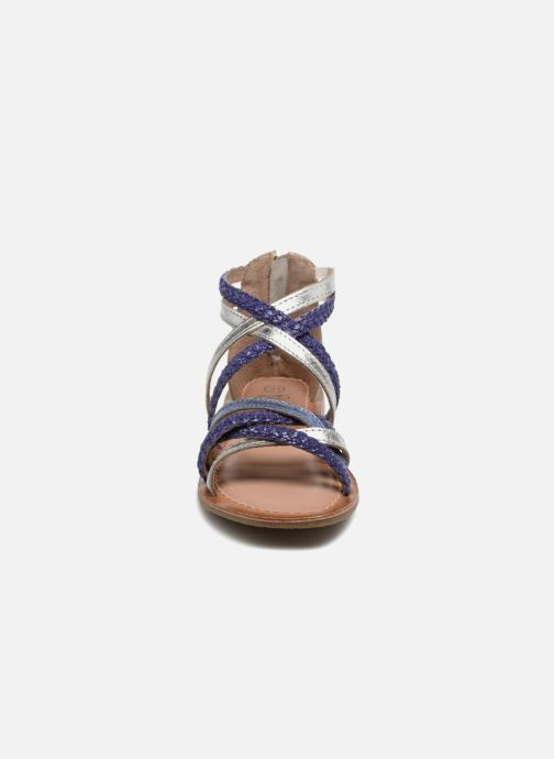 Sandalen I Love Shoes Kepola Leather blau schuhe getragen