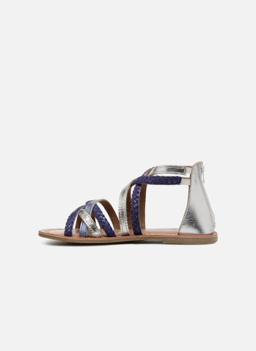 Sandals I Love Shoes Kepola Leather Blue front view