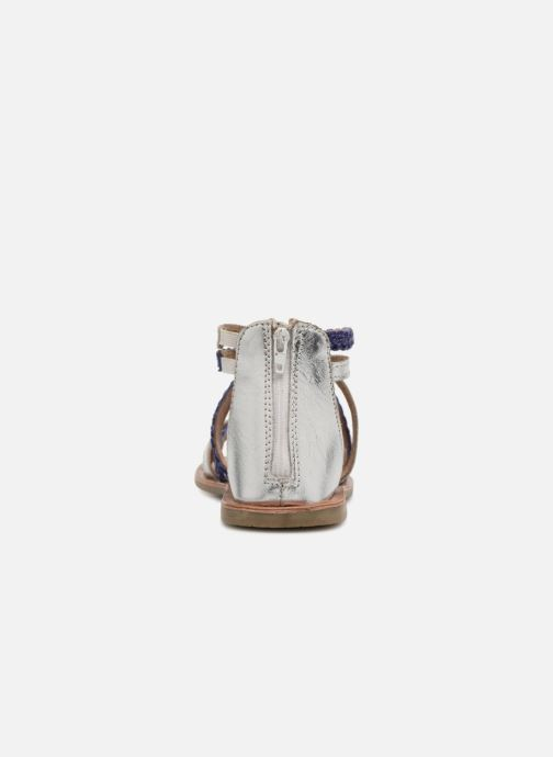 Sandalias I Love Shoes Kepola Leather Azul vista lateral derecha