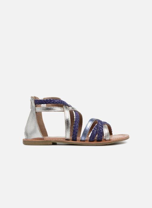Sandals I Love Shoes Kepola Leather Blue back view