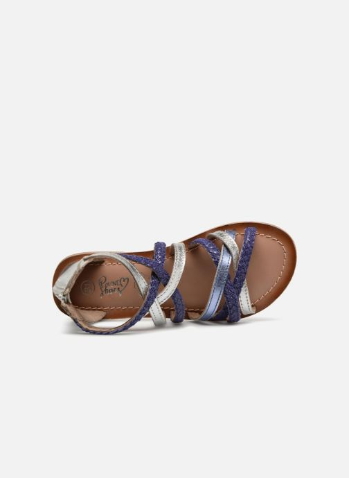 Sandals I Love Shoes Kepola Leather Blue view from the left