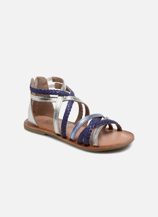 Sandals I Love Shoes Kepola Leather Blue detailed view/ Pair view