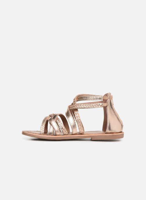 Sandales et nu-pieds I Love Shoes Kepola Leather Or et bronze vue face
