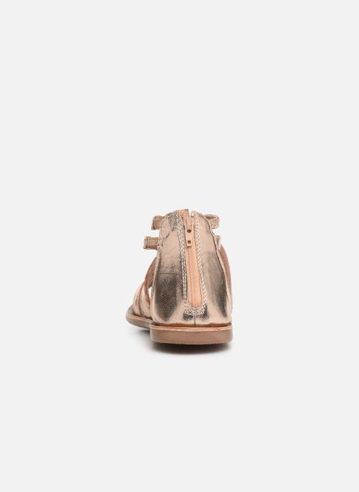 Sandales et nu-pieds I Love Shoes Kepola Leather Or et bronze vue droite