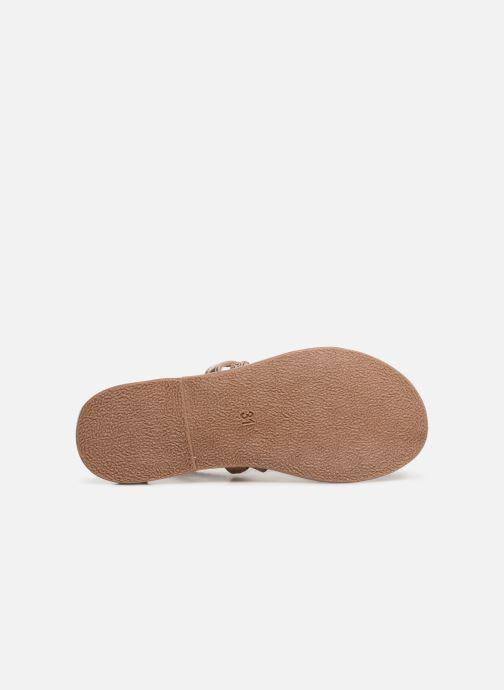 Sandalias I Love Shoes Kepola Leather Oro y bronce vista de arriba