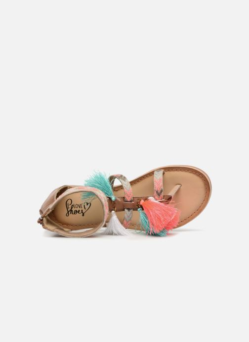 Sandals I Love Shoes Kebam Leather Kids Multicolor view from the left