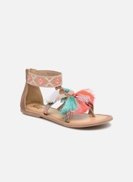 Sandales et nu-pieds I Love Shoes Kebam Leather Kids Multicolore vue détail/paire