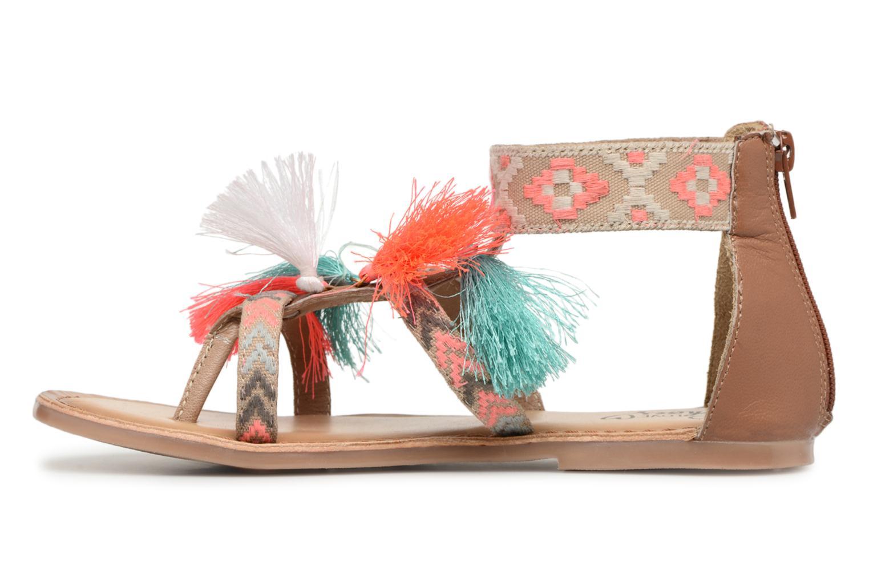 Sandales et nu-pieds I Love Shoes Kebam Leather Kids Multicolore vue face