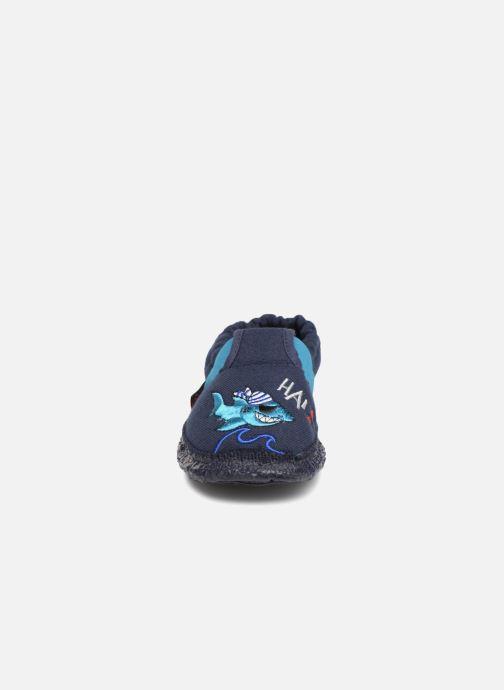 Chaussons Giesswein Alland Bleu vue portées chaussures