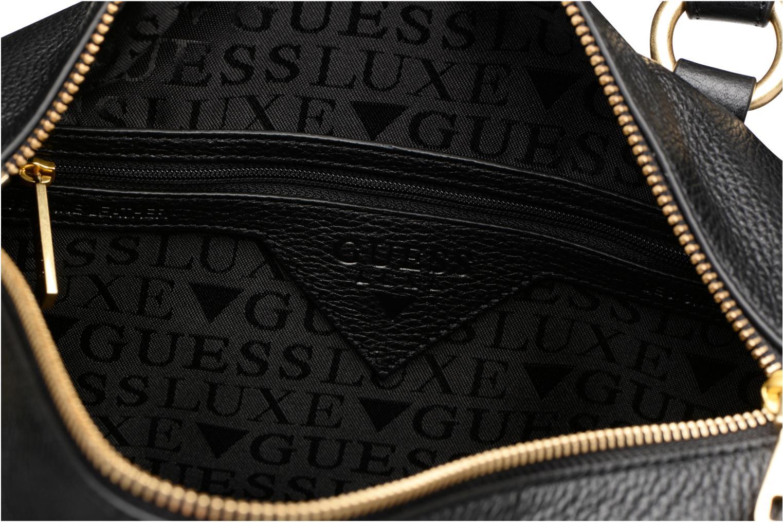 Handtassen Guess Bonnie Box satchel Zwart achterkant