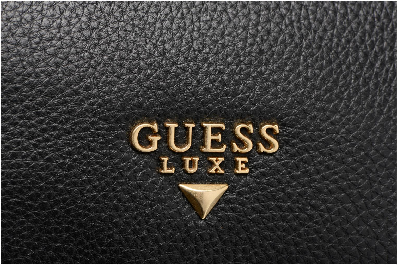 Handtassen Guess Bonnie Box satchel Zwart links