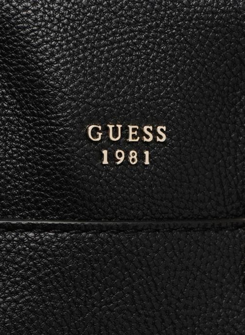 Sacs à main Guess Luma Small Girlfriend Satchel Noir vue gauche
