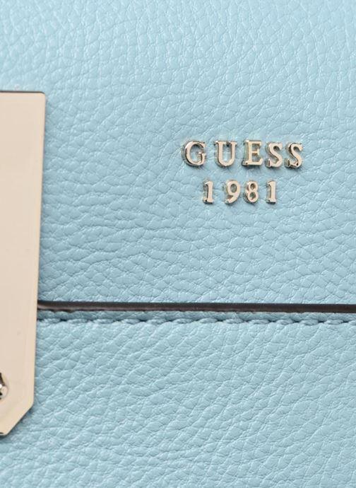 Borse Guess Luma Small Girlfriend Satchel Azzurro immagine sinistra
