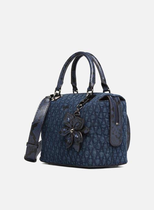 4daf464b26 Guess Sibyl Box Satchel (Blue) - Handbags chez Sarenza (312677)