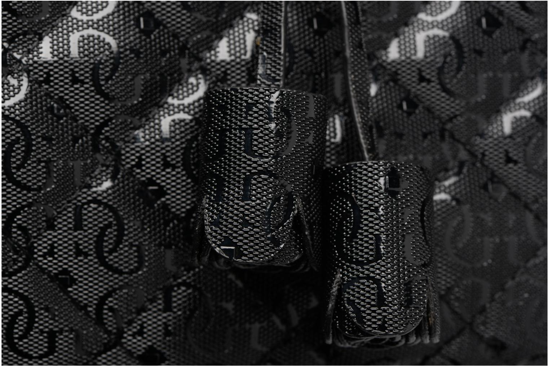 Handtassen Guess Seraphina Satchel Zwart links