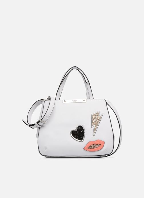014aab0ebd Handbags Guess Britta Small Society Satchel White detailed view  Pair view