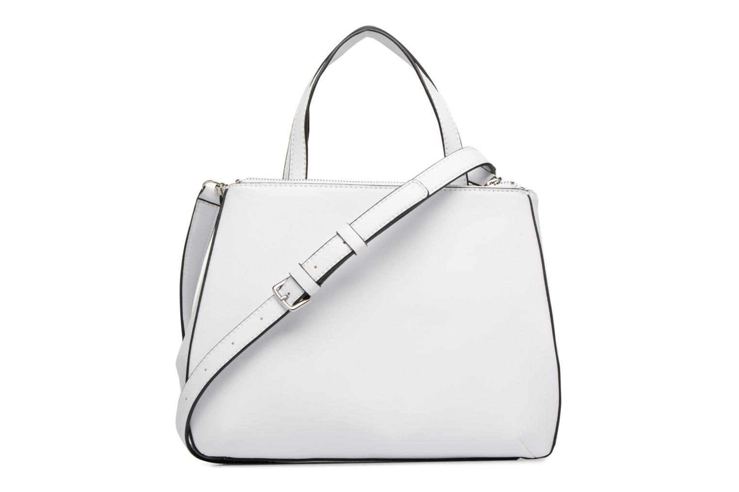 Sacs à main Guess Britta Small Society Satchel Blanc vue face