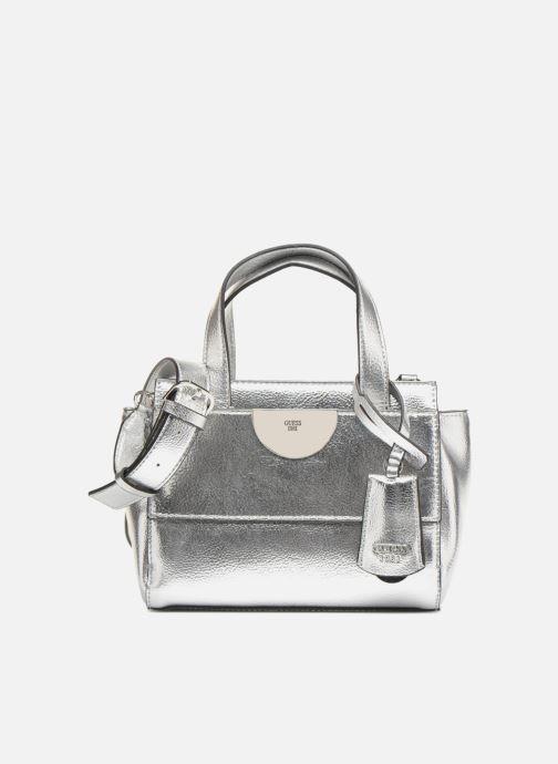 aca7f630d8 Guess Anuka Small Satchel (Silver) - Handbags chez Sarenza (312688)