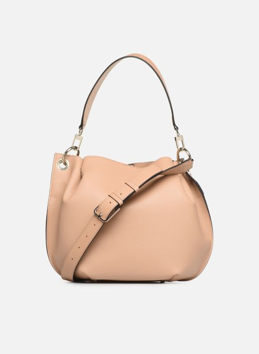 Handbags Guess Digital Hobo Beige front view