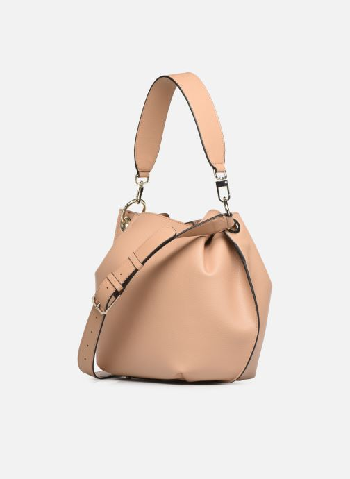 Handbags Guess Digital Hobo Beige view from the right