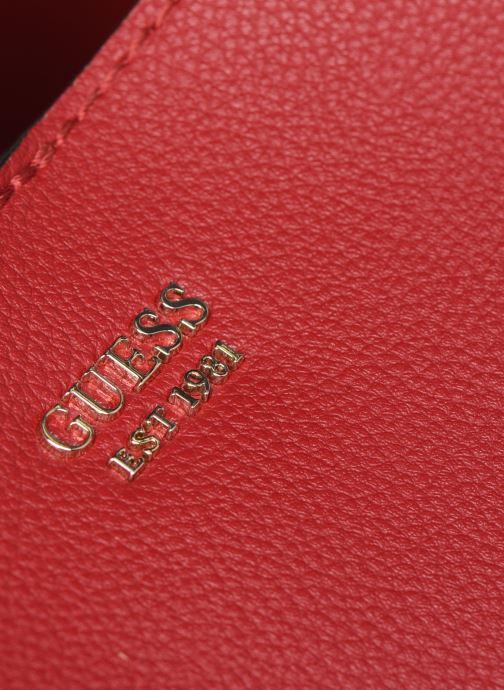 Sacs à main Guess Digital Hobo Rouge vue gauche
