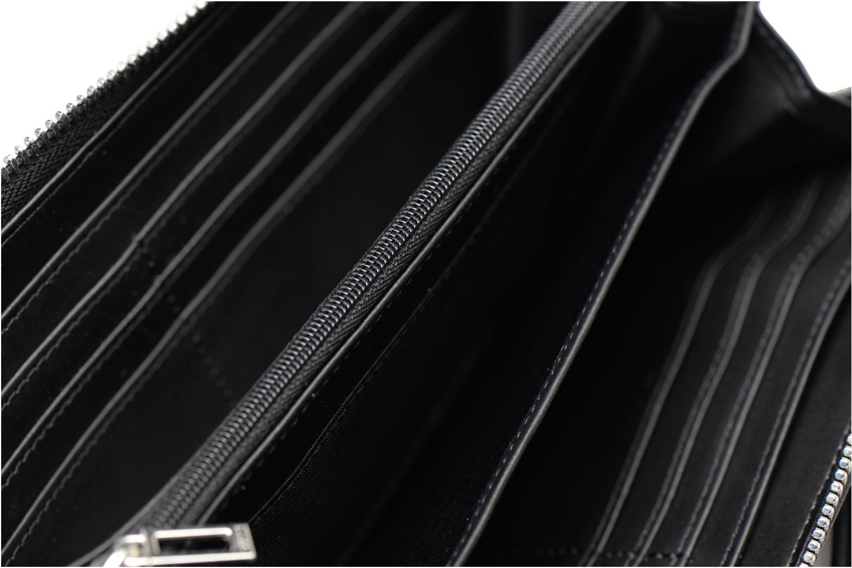 Kleine lederwaren Guess Britta SLG Large Zip Around Zwart achterkant