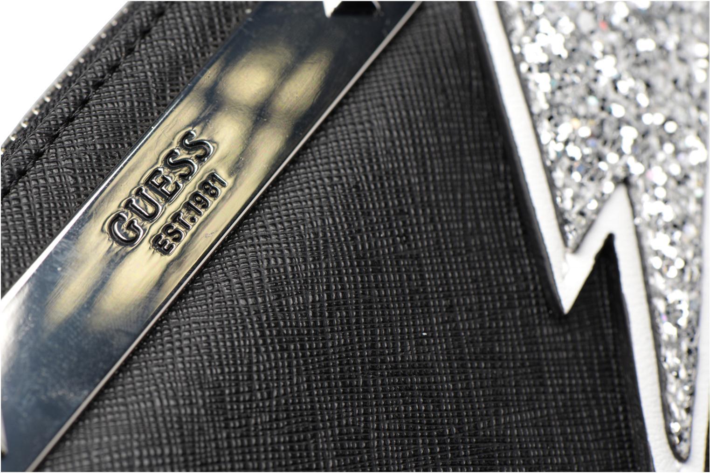 Kleine lederwaren Guess Britta SLG Large Zip Around Zwart links