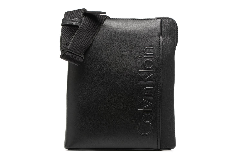 Sacs homme Calvin Klein Elevated Logo Flat Crossover Noir vue détail/paire