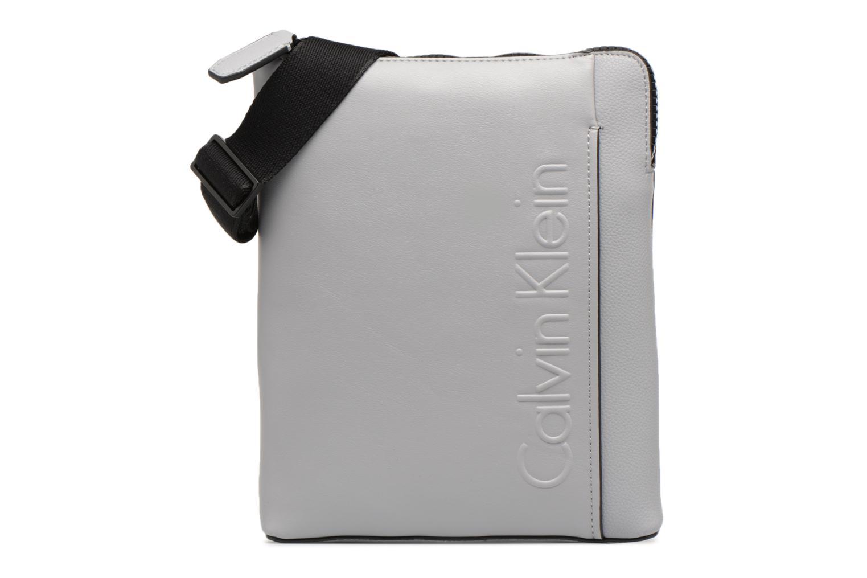 Sacs homme Calvin Klein Elevated Logo Flat Crossover Gris vue détail/paire