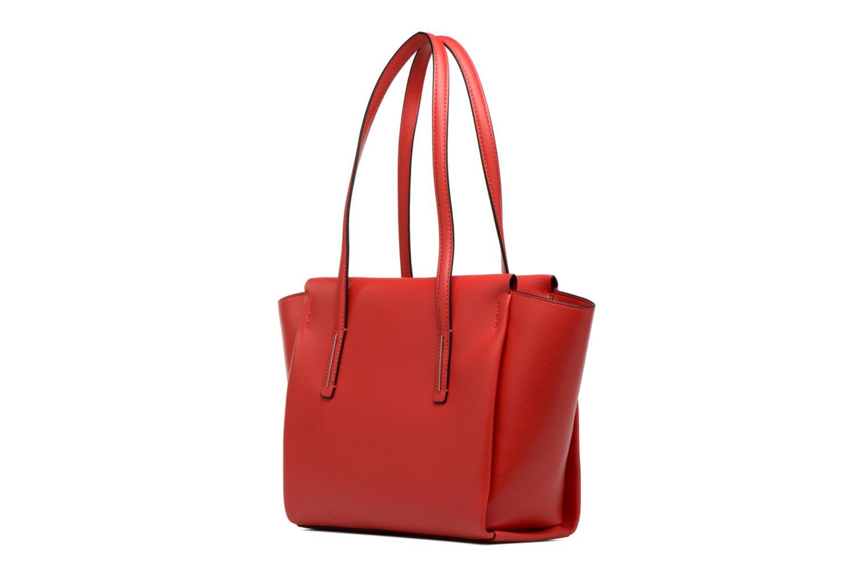 Sacs à main Calvin Klein Frame Medium Shopper Rouge vue droite