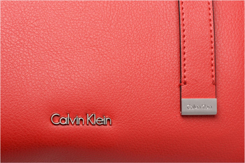 Handtaschen Calvin Klein Frame Medium Shopper rot ansicht von links