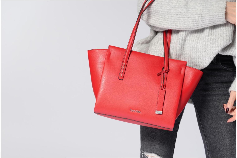 Handtaschen Calvin Klein Frame Medium Shopper rot ansicht von oben