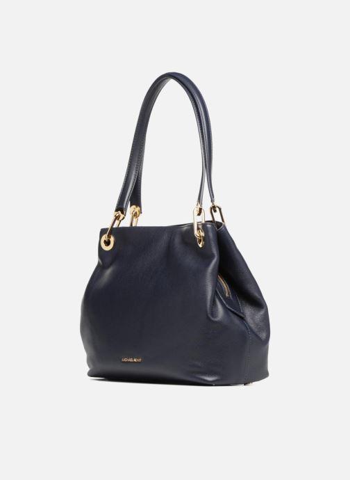 Bolsos de mano Michael Michael Kors RAVEN LG SHOULDER TOTE Azul vista del modelo
