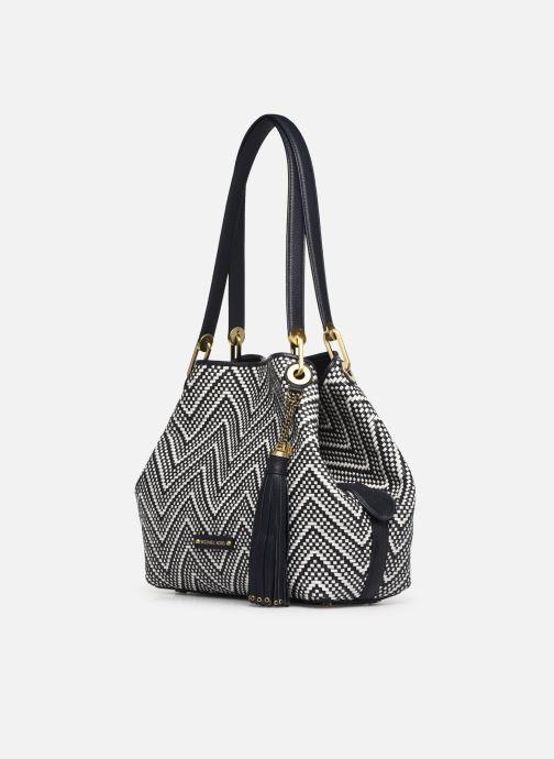 Handtaschen Michael Michael Kors RAVEN LG SHOULDER TOTE schwarz schuhe getragen