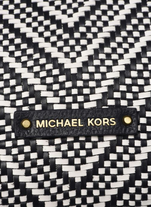 Handväskor Michael Michael Kors RAVEN LG SHOULDER TOTE Svart bild från vänster sidan
