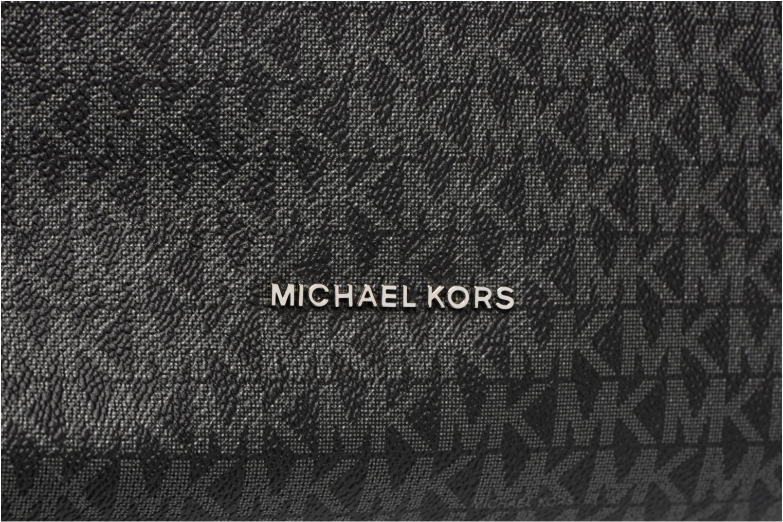 Borse Michael Michael Kors Lex LG CONV HOBO Nero immagine sinistra